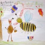 """""""Ich liebe diese Schulbiene"""" –Bienenzeichnung von Annika, Wunderburgschule"""