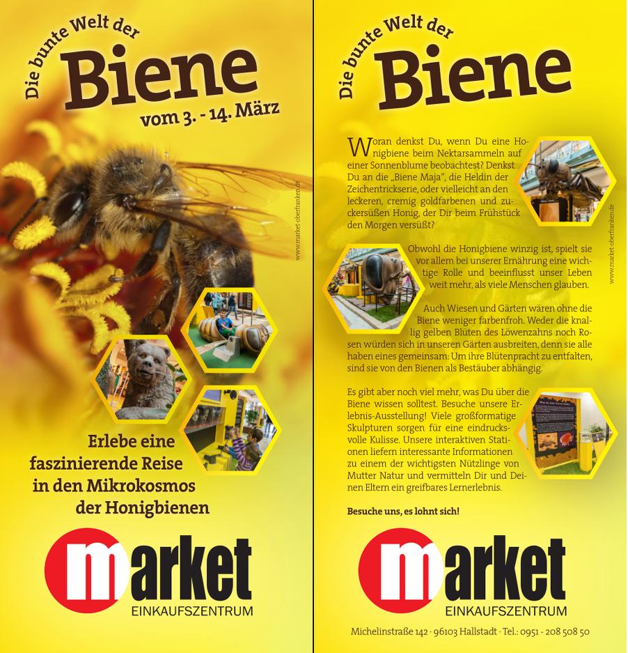 Flyer Bienenausstellung Market Hallstadt