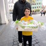 Gewinner Yannik Rutkowski mit Vater