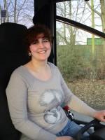 Unsere Busfahrerin Sabrina von Basel-Reisen