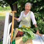 Fleißige Helferin Bienenpatin Gabriele Loskarn