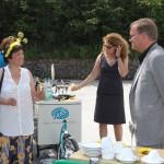 Begrüßung von OB Starke zum Spatenstich der Bienen-InfoWabe