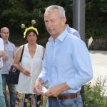 Nikolaus Hofmann, 2. Vors. IBZV spricht Grusswortezum Spatenstich der Bienen-InfoWabe