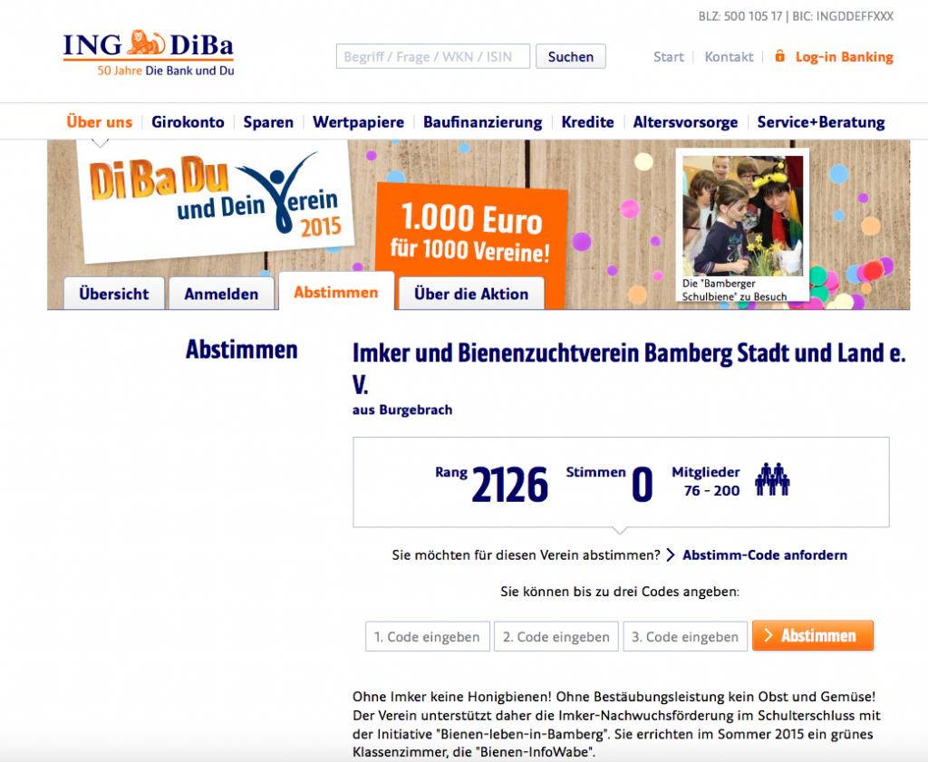 Screenshot: DiBaDu und dein Verein