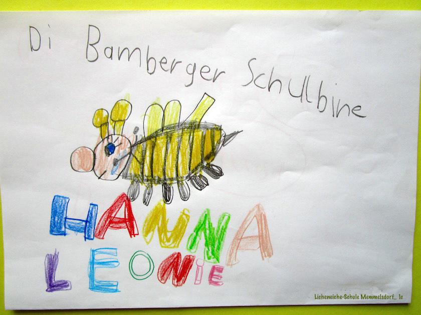 Bienenfragen auf Zeichnung Lichteneicheschule 1c