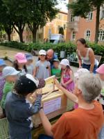 Kinder entdecken die Lernbeute