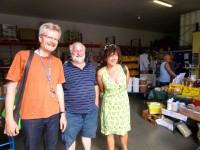 Reinhold Burger, Jürgen Horn und Christina Hartleitner im Imkershop