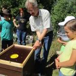 Reinhold Burger erklärt die Funktionsweise der Bienenflucht