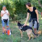 Jeannette, Hund Mannie und Stefanie