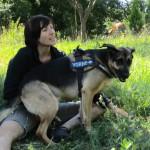 Stefanie mit Hund Mannie