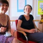 Ilona mit Bienenpatin Manuela Wehr
