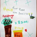 Honigzeichnung von Jessica