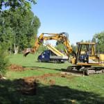 Materialanlieferung für den Bau der Bienen-InfoWabe