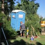 Neuer Toilettenplatz, Bau Bienen-InfoWabe