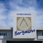 Firmenschild Schreinerei Bergmann