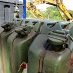 Dieselkanisterl für die Baueinsatzfahrzeuge