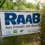 Firmenschild Raab-Bau Ebensfeld