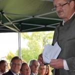 Festansprache / Grußworte von Robert Engert (1. Vorsitzender des Trägers, der Imker und Bienenzuchtverein Bamberg Stadt und Land e. V.) zur Eröffnung der Bienen-InfoWabe am 20.09.2015