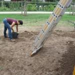 Steine aufklauben für stolperfreien Boden