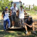 Gruppenbild mit Raab-Bauleuten und Munique