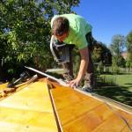 Schreinereiarbeiten an der Bienen-InfoWabe