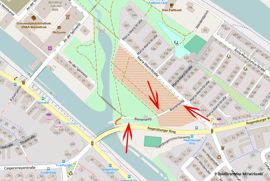 Bienenweg Bamberg auf http://www.openstreetmap.org - Mitwirkende