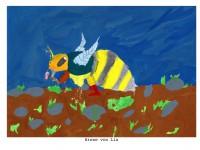 Bienenzeichnung von Lia