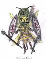 Bienenzeichnung von Nicolai