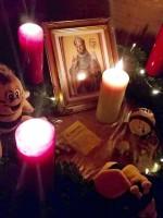 Kleiner Adventsalter für den Heiligen Ambrosius