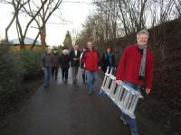 Auf dem Weg zur Enthüllung des Bienenwegs in Bamberg