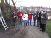 Gäste bei der Enthüllung des Bienenwegs in Bamberg