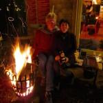 Gastgeber am Feuerkorb