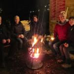 Gäste am BAmbrosiustag 2015 am Feuerkorb