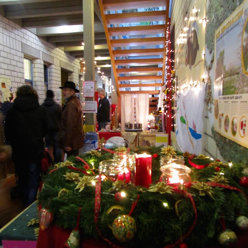 Blick auf unseren Standort beim Don Bosco Weihnachtsmarkt