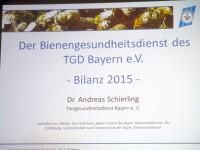 Begrüßungsfolie Bienengesundheitsdienst Bayern