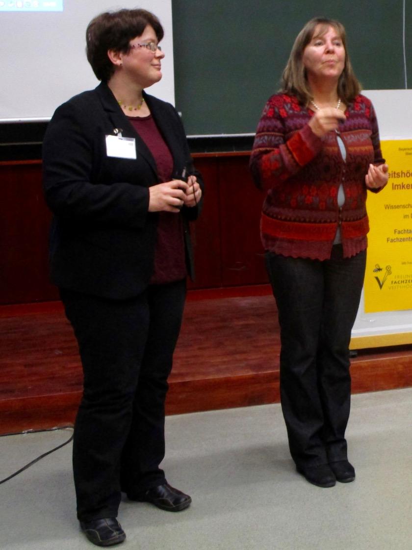 Dr. Ingrid Illies und Referentin Kornelia Marzini