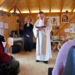 Gottesdienst zum Saisonstart der Bienen-InfoWabe (BIWa) 2016, P. Neunhöffer und P. Putzer