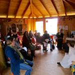 Gottesdienstbesucher zum Saisonstart der Bienen-InfoWabe (BIWa) 2016