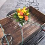 Blumenstrauß, gebunden von Bienenpatin Sabine Gründler, Gärtnerei Böhmer
