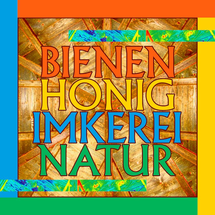 Logo für alle Schwerpunktthemen (= Bienen, Honig, Imkerei, Natur) der Bienen-InfoWabe