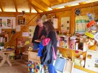 Besucher an der Lernbienenbeute zum Programmstart der Bienen-InfoWabe (BIWa) 2016