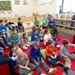 Heitere Stimmung in der 2b der Grundschule Baunach