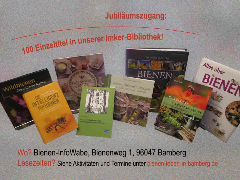 Jubiläumszugang: Literatur zu Bienen und Imkerei in der Bienen-InfoWabe