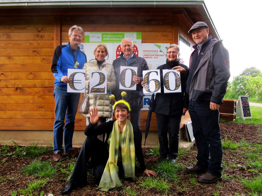 Spendenübergabe Förderverein zur Nachhaltigkeit der Landesgartenschau Bamberg