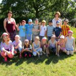 Gruppenfoto für die Gundelsheimer Schulklasse 3b,