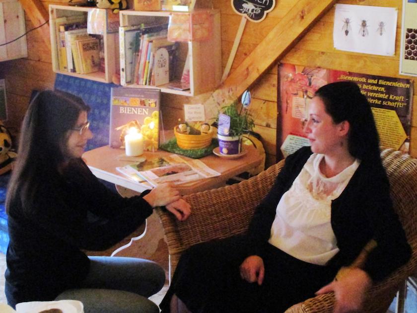 Wiebke und Sepha im Gespräch
