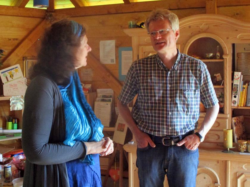 Elke und Reinhold im Gespräch