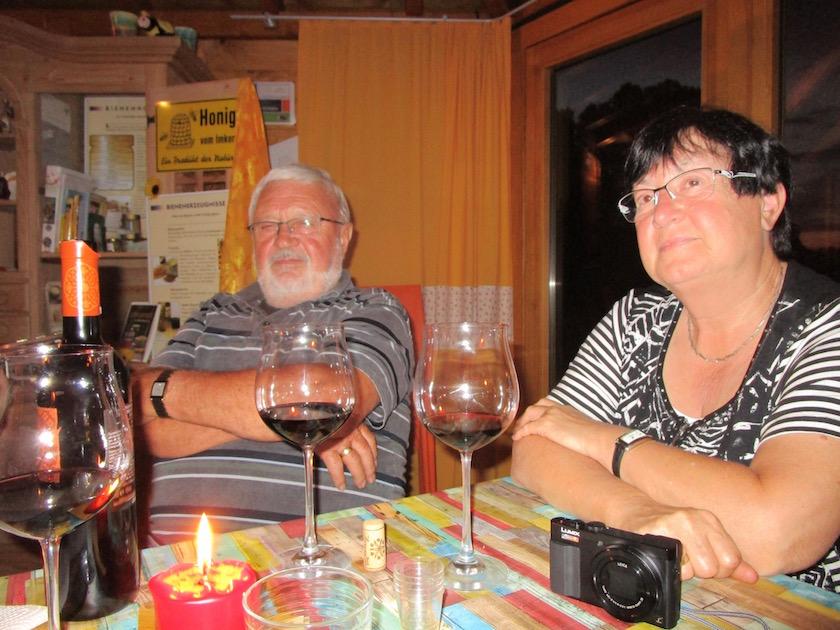 Entspannte Gäste Gabi und Bernhard