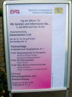 Plakat zum Tag der offenen Tür 2016 der LGW in Bamberg