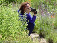 Elke Puchtler im Aromagarten / / Foto @ Elke Puchtler